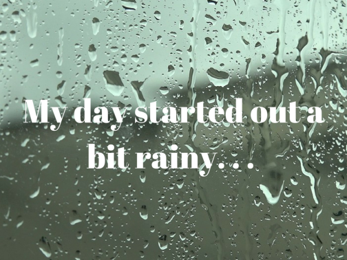 My day started out a bit rainy. . .
