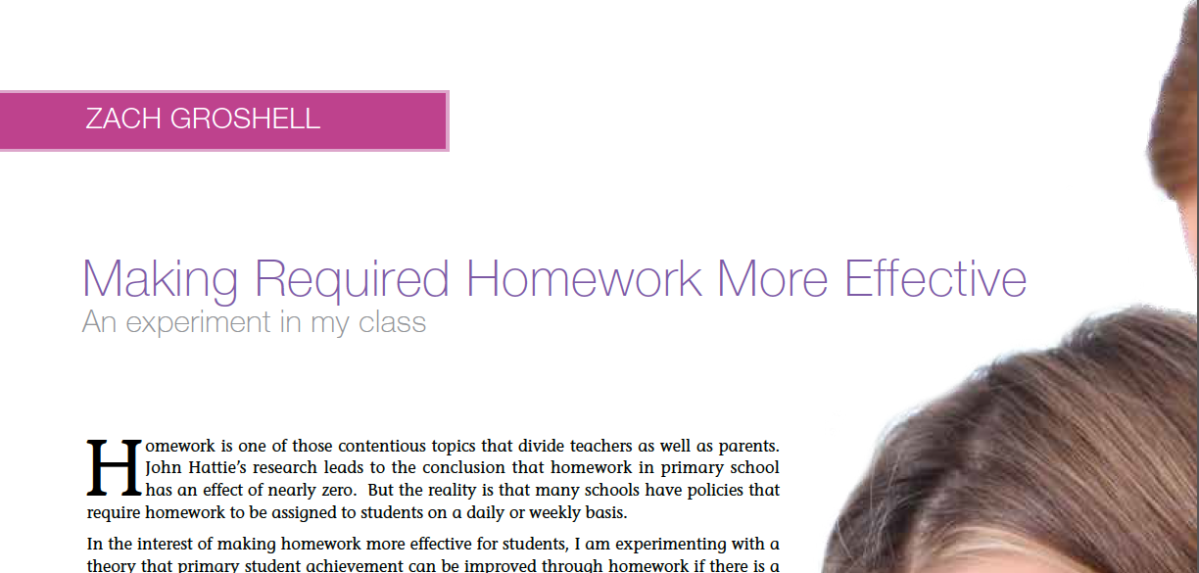 Making Required Homework More Effective: An Experiment in My Class