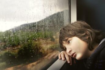 Inside Train Boy Kid Child Rail Person Little